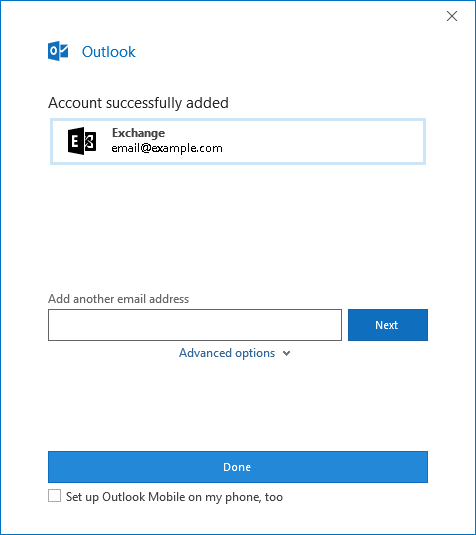 Knowledge Base - Exchange setup on Outlook 2016 / Office 365